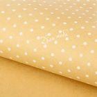 Бумага упаковочная крафт «Для тебя», белый горох, 50 х 70 см.