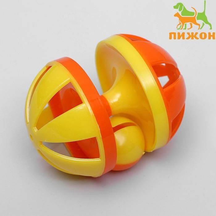 Игрушка-головоломка с шариком-погремушкой, 9 х 6,5 см, микс цветов