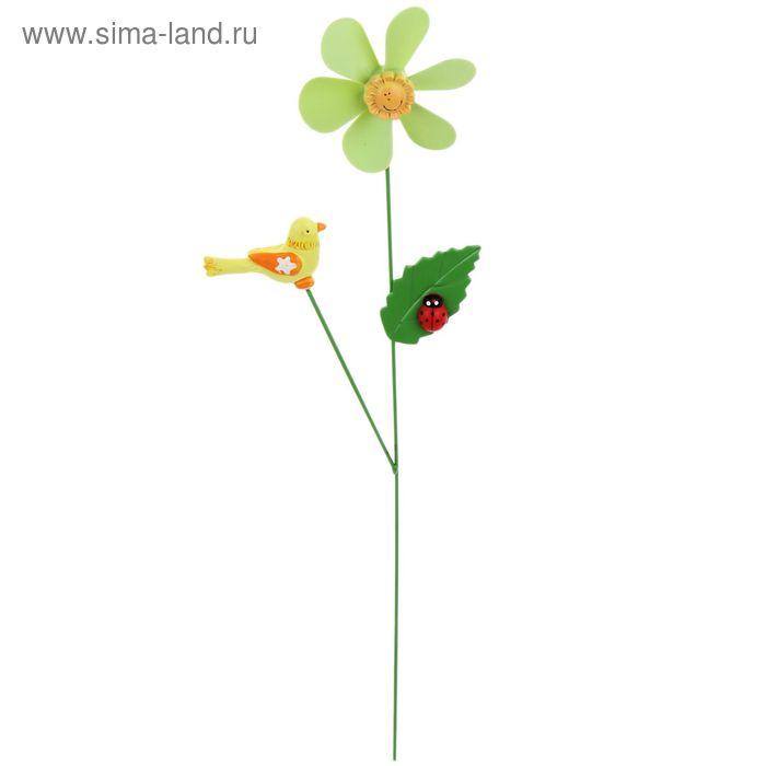 """Декоративный штекер для комнатных растений """"Птичка"""" с пропеллером"""
