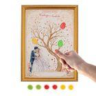 """Свадебное дерево пожеланий в рамке """"Жених и невеста"""""""