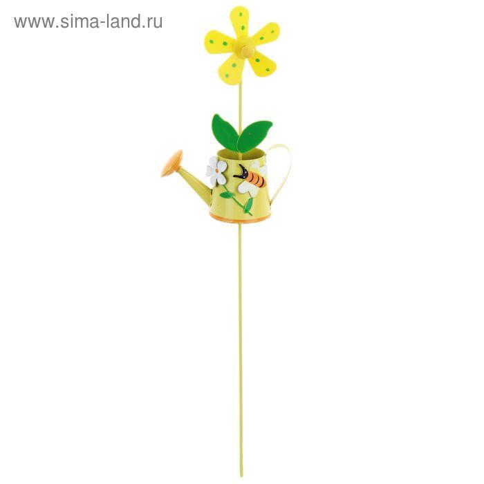 """Декоративный штекер для комнатных растений """"Лейка"""" с пропеллером"""
