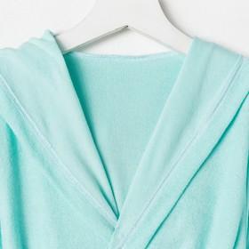 Халат махровый с капюшоном для девочки, МИКС рост 98-104 см, 1431-56_Д - фото 1394788
