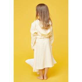 Халат махровый с капюшоном для девочки, МИКС рост 98-104 см, 1431-56_Д - фото 1394791