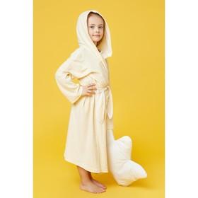 Халат махровый с капюшоном для девочки, МИКС рост 98-104 см, 1431-56_Д - фото 1394792