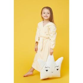Халат махровый с капюшоном для девочки, МИКС рост 98-104 см, 1431-56_Д - фото 1394793