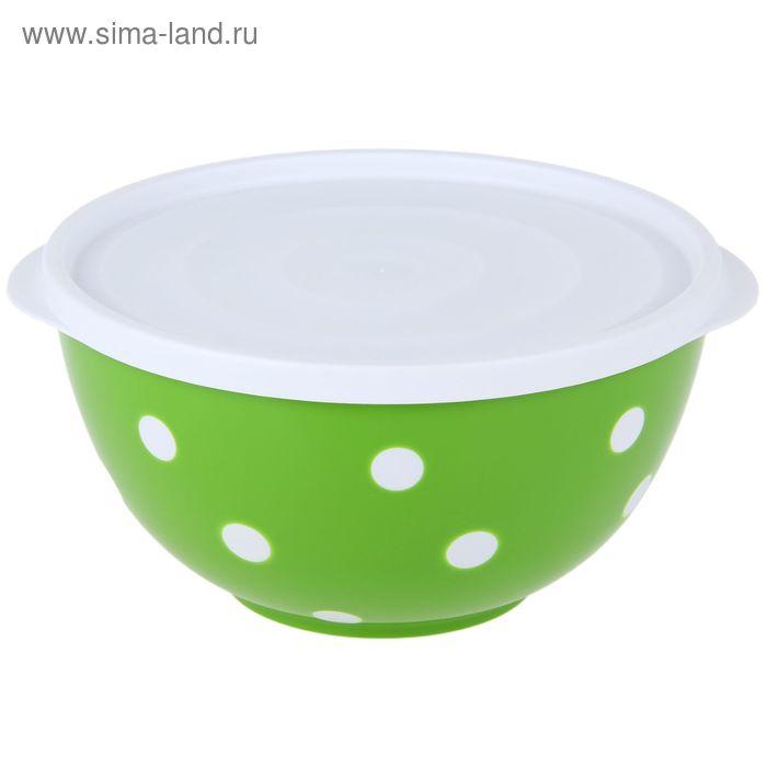 Салатник с крышкой 1,4 л Marusya, цвет салатовый