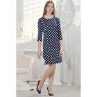 Платье женское, размер 50, рост 164 см, цвет тёмно-синий/чёрный (арт. 4589а С+)