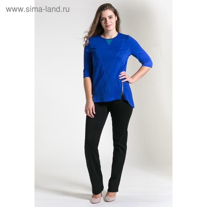 Туника женская 4609, размер 48, рост 164 см, цвет тёмно-синий/бирюза