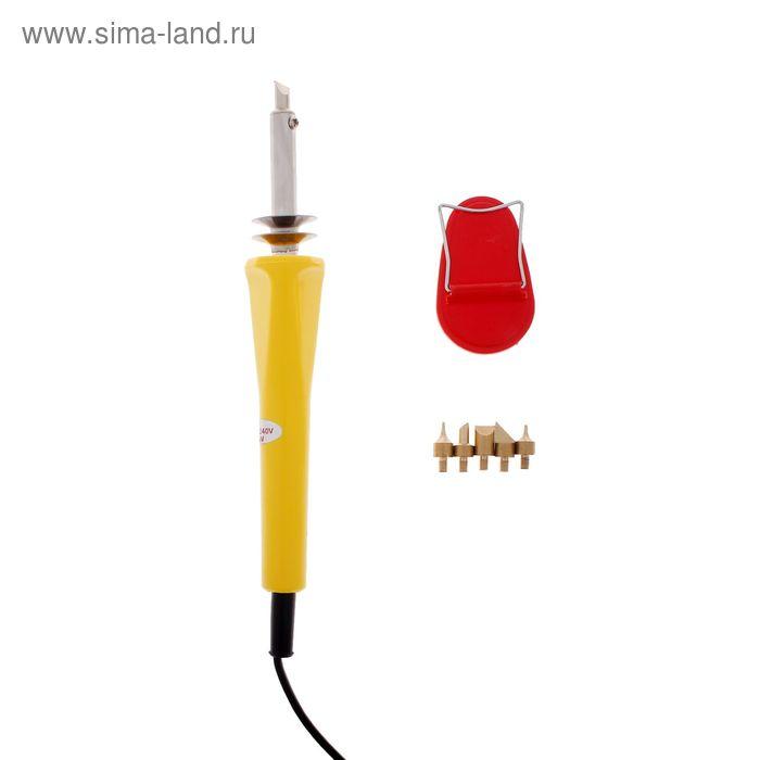 Инструмент для нанесения рисунка по дереву (обжиг) 6 насадок+подставка 23х3 см