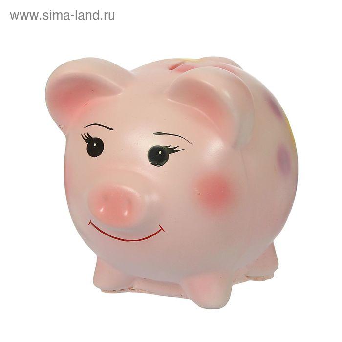 "Копилка ""Свинка"" круглая, розовая"