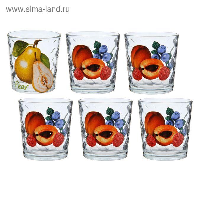 "Набор стаканов 250 мл ""Груши-Персики"", 6 шт"