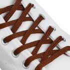 Шнурки для обуви плоские, 6мм,150см, цвет коричневый