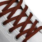 Шнурки для обуви плоские, 6мм, 50см, цвет коричневый