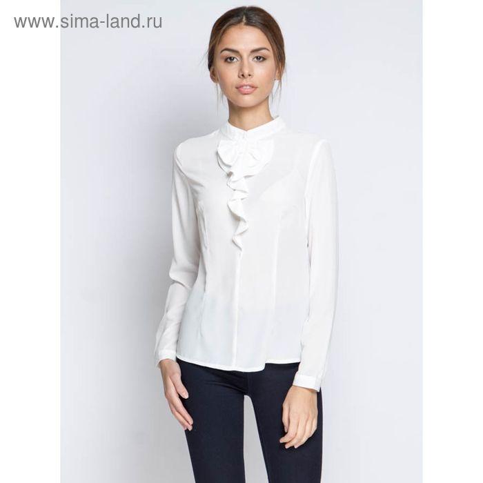 Блузка длинный рукав 15160,размер 46,рост 170 см,цвет белый