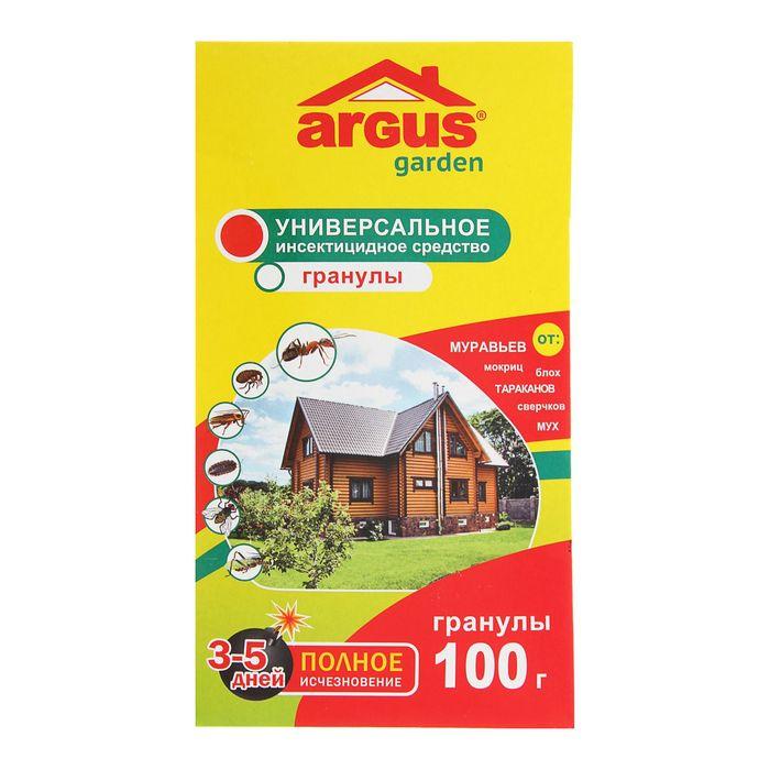 Гранулы Argus Garden от муравьев (домашних и садовых), мух, блох, тараканов, 100 г