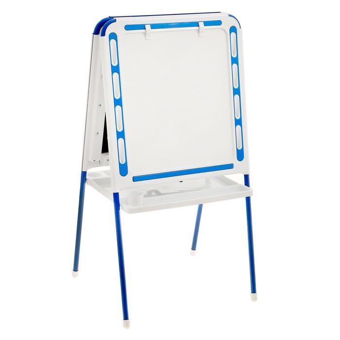 Мольберт детский универсальный, цвет бело-синий