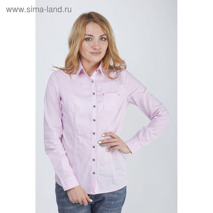 Рубашка женская 15113,цвет розовый,размер 42,рост 170