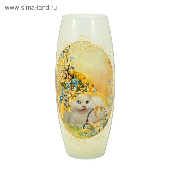 """Ваза """"Кошка в цветах"""" овальная"""