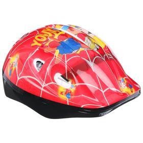 Шлем защитный OT-502 детский, размер S, 52-54 см, цвет красный