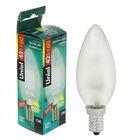 Лампа галогенная Uniel, Е14, 42 Вт, 230 В, матовая