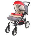 Прогулочная коляска Geoby, цвет серый с красным