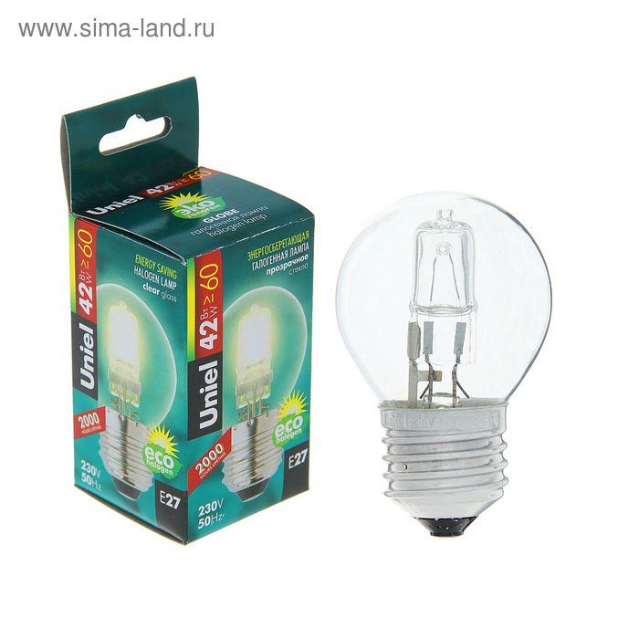Лампа галогенная Uniel, Е27, 42 Вт, 230 В