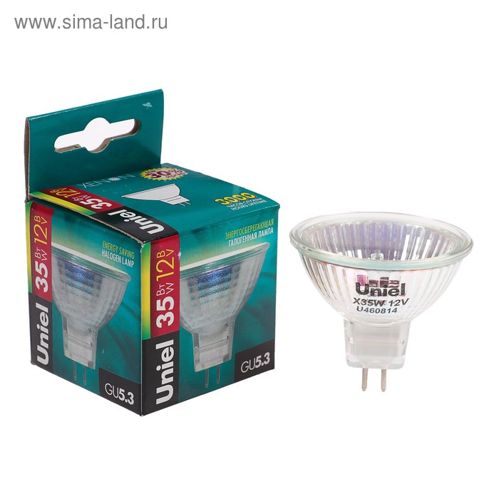 Лампа галогенная Uniel, GU5.3, 35 Вт, 12 В