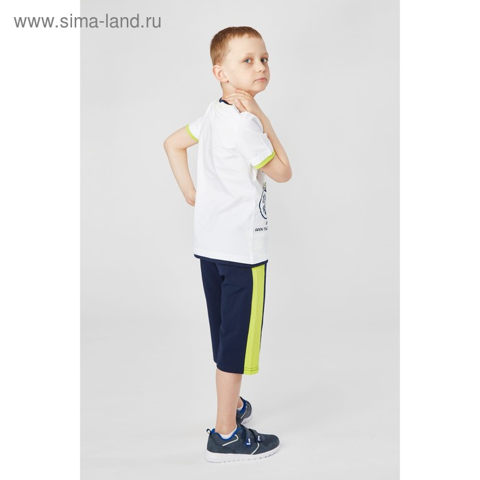 Комплект для мальчика (футболка+шорты), рост 146 см (11 лет), цвет тёмно-синий/белый (арт. Н464)