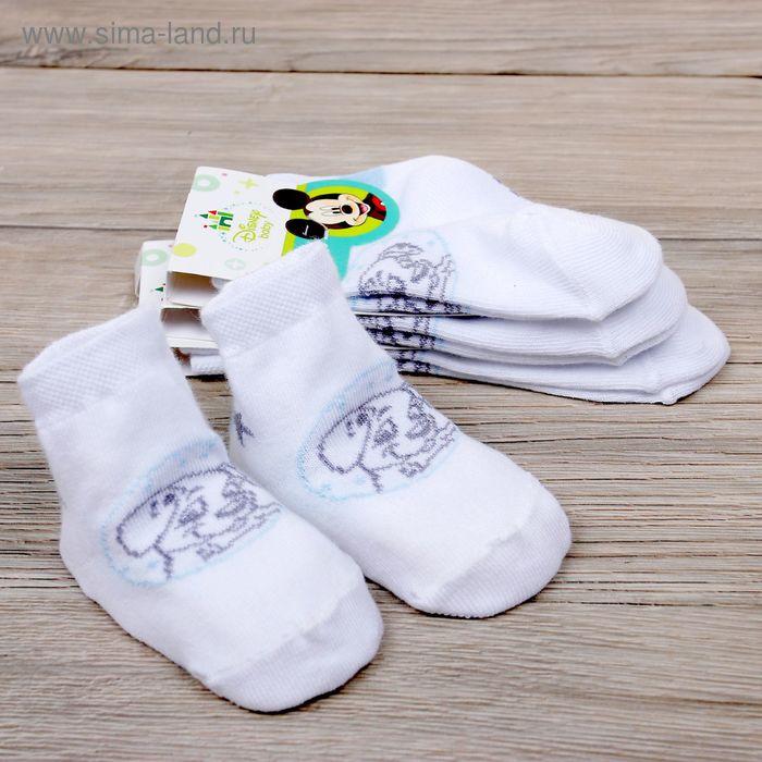 """Носки детские """"Дисней беби: Далматинец"""", 6-8 см, 3-6 мес., 100% хлопок"""