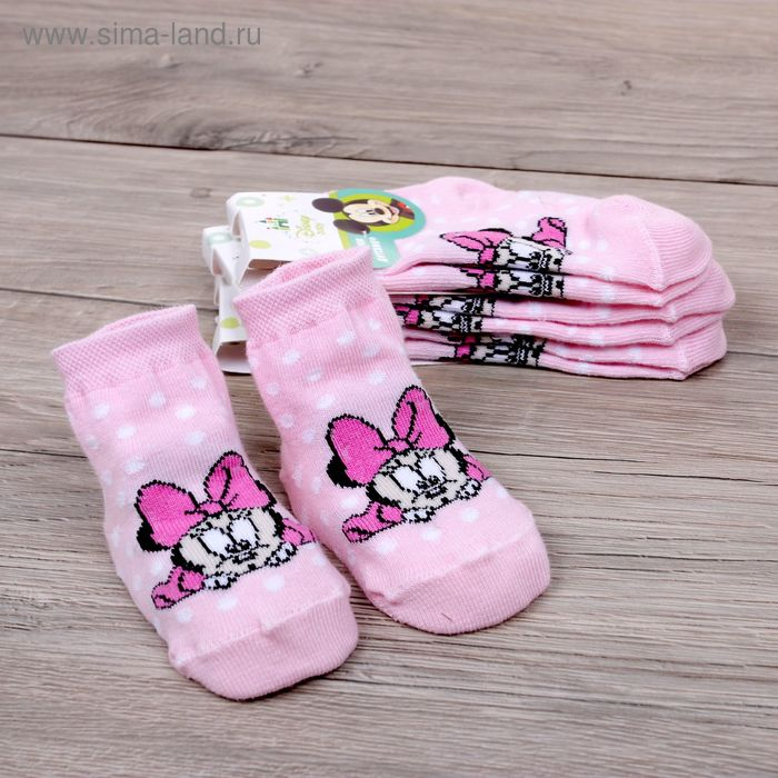 """Носки детские """"Дисней беби: Малышка Минни: горошек"""", Минни Маус, 8-10 см, 6-9 мес., 100% хлопок"""
