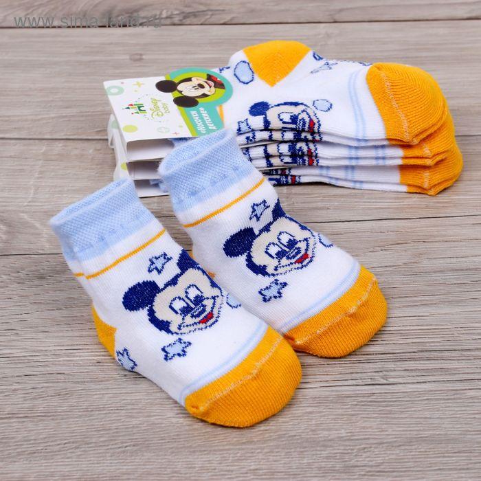 """Носки детские """"Дисней беби: Микки морячок"""", Микки Маус и друзья, 10-12 см, 9-12 мес., 100% хлопок"""