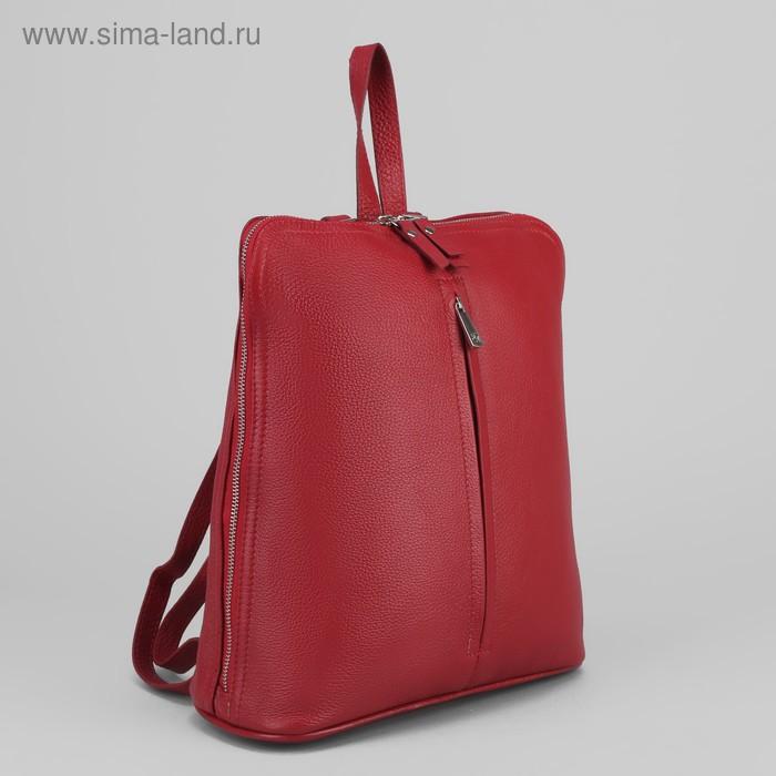 Рюкзак молодёжный на молнии, 2 отдела, наружный карман, бордовый