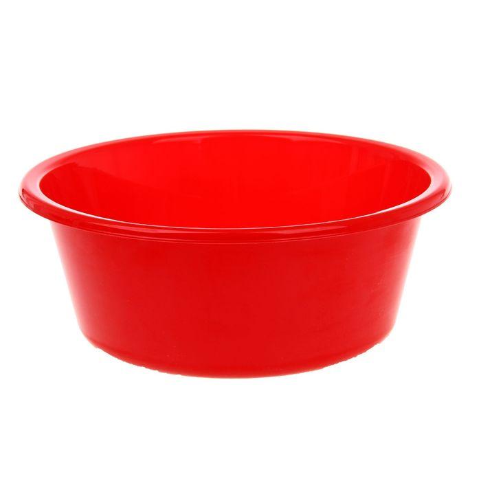 """Таз 4 л """"Кливия"""", цвет красный"""