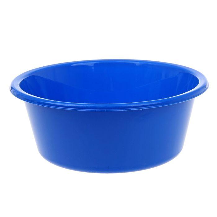"""Таз пластиковый 4 л """"Кливия"""", цвет синий"""