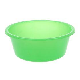 Таз круглый «Кливия», 4 л, цвет зелёный