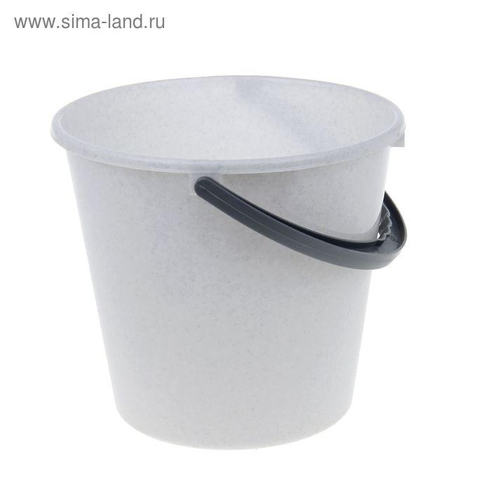 """Ведро пластиковое 5 л """"Примула"""", цвет мраморный"""