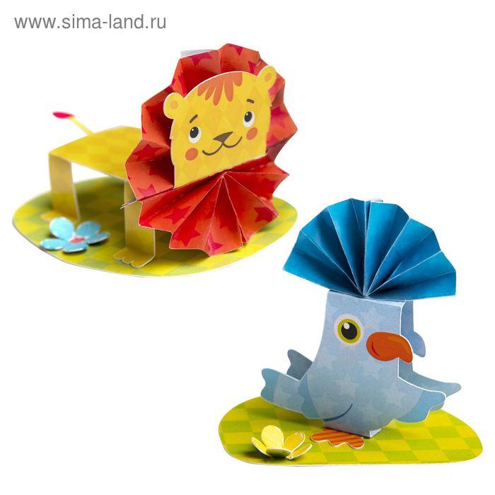"""Аппликация-обучалка """"Лев и попугай"""" для самых маленьких + липкая лента"""