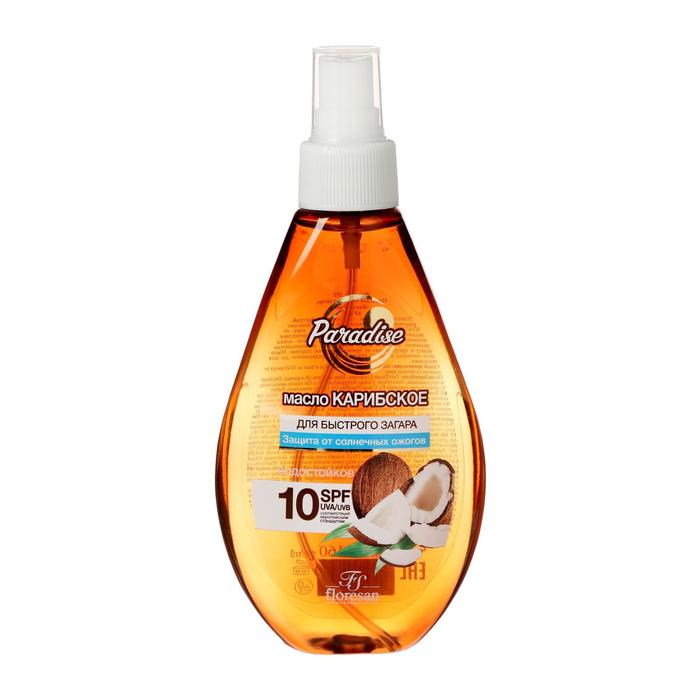 Carb oil for quick tanning, waterproof, SPF 10, 160 ml.