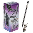 Ручка шариковая 0.7 мм, чёрный стержень, корпус прозрачный, игольчатый пишущий узел, MY-TECH
