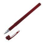 Ручка гелевая, 0.5 мм, красная, корпус бордовый матовый, Softtouch