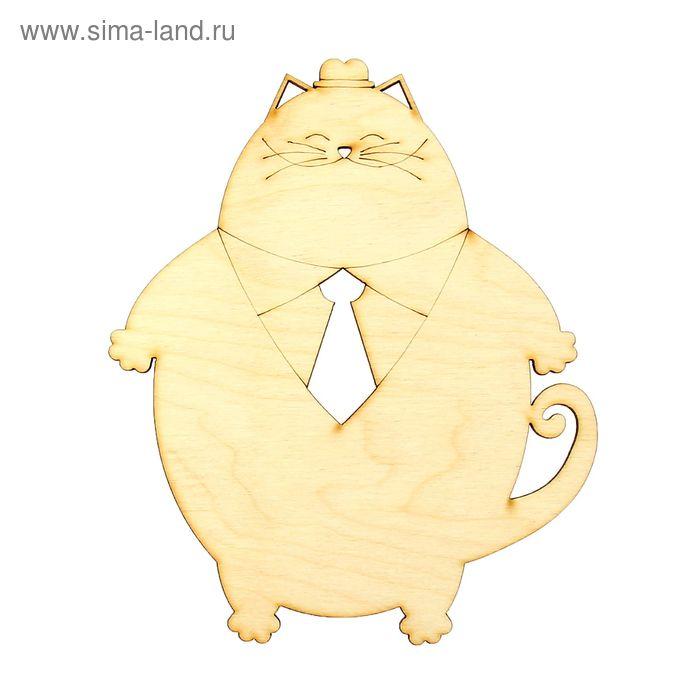 """Бирка для декора """"Кот с галстуком"""""""