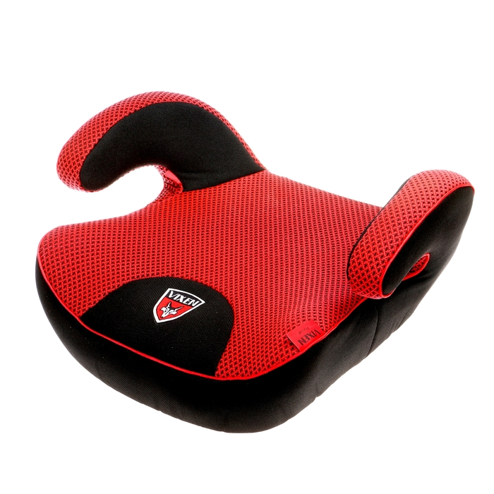 Бустер автомобильный, группа 3, цвет красный/чёрный