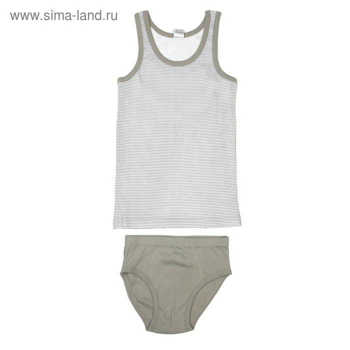Комплект для мальчика (майка, трусы), рост 140 см (72), цвет серый (арт. CAJ 3299)