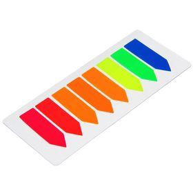 Блок-закладка с липким краем пластик 'Стрелки' 15 л, 8 цв, флуорисцентный, в блистере, МИКС Ош
