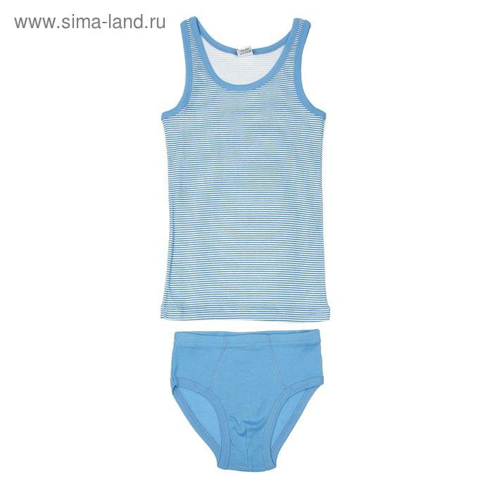 Комплект для мальчика (майка, трусы), рост 146 см (76), цвет синий (арт. CAJ 3299)