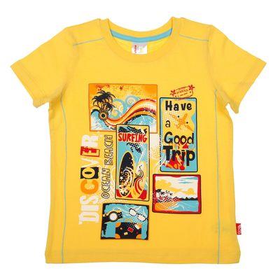 Футболка для мальчика, рост 92 см (52), цвет жёлтый
