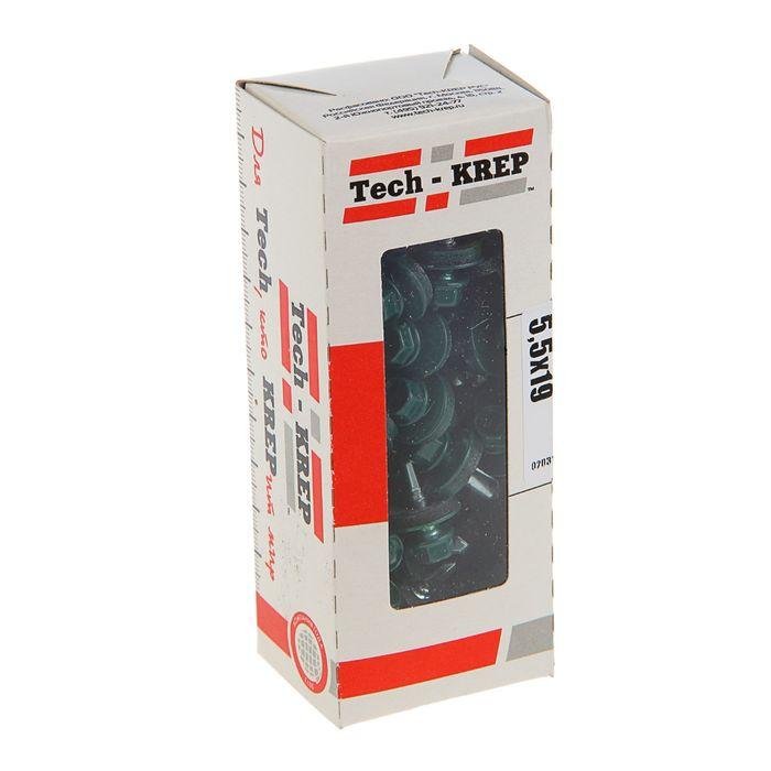 Саморезы кровельные TECH-KREP, 5.5х19 мм, сверло, зеленый RAL 6005, 60 шт.