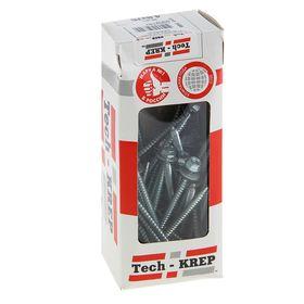 Саморезы кровельные TECH-KREP, 4.8х76 мм, сверло, цинк, с шайбой, 30 шт. Ош