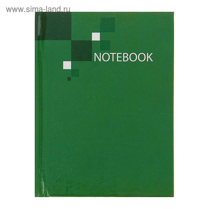 """Блокнот твердая обложка А7, 64 листа """"Зеленый"""""""
