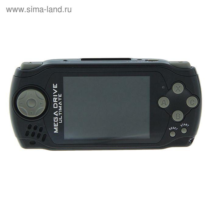 Игровая приставка MegaDrive Portable Ultimate, 3 картриджа, черная